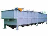 Advection type air floatation precipitation machine
